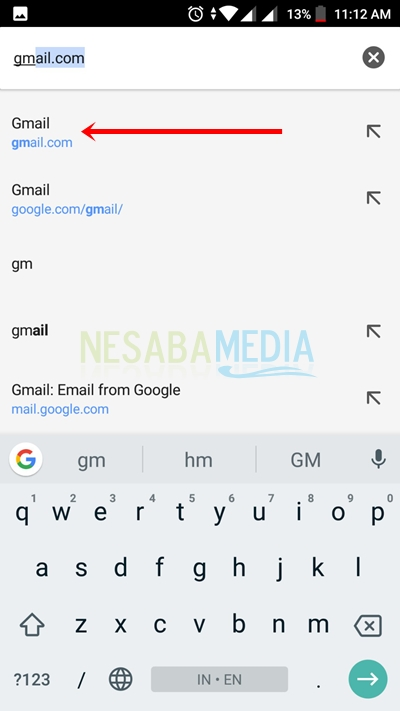 how to open email on android