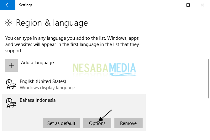 cara mengubah bahasa di laptop windows 10 untuk pemula