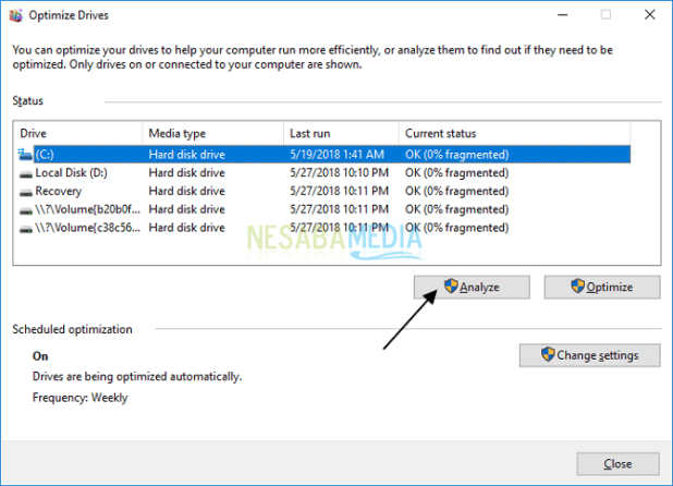 how to defrag laptop windows 10