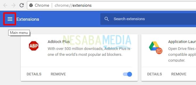 click menu icon