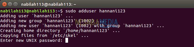 cara membuat user di linux