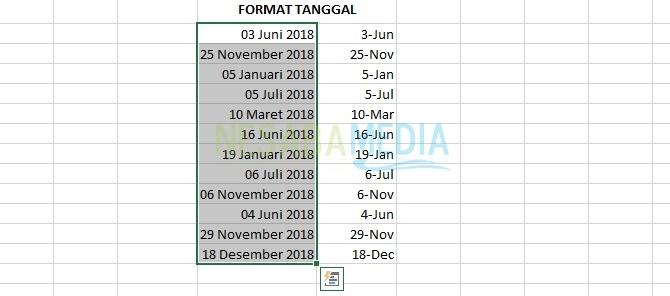tutorial cara mengganti format tanggal di excel