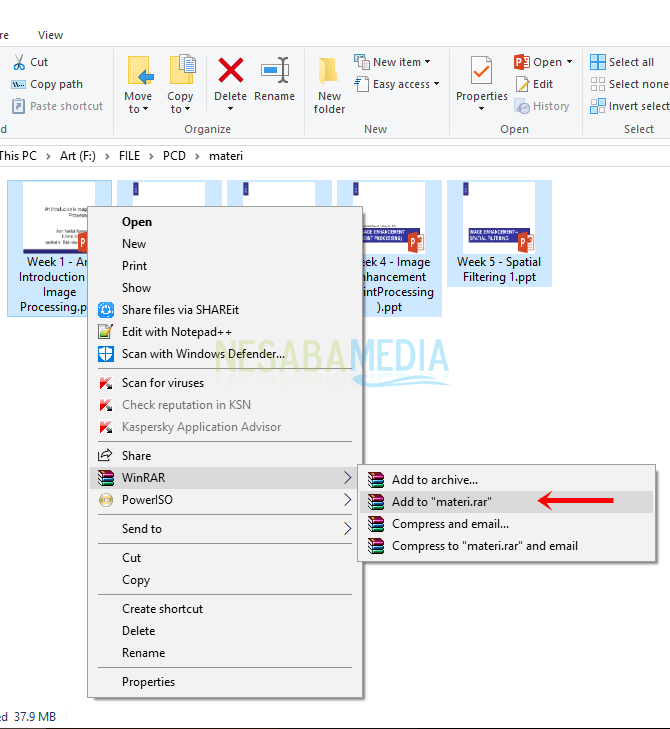 Cara mengubah folder menjadi zip,cara membuat file rar zip di windows