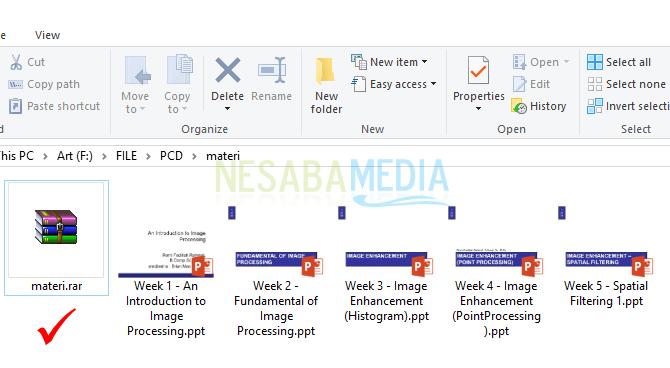 cara membuat file rar