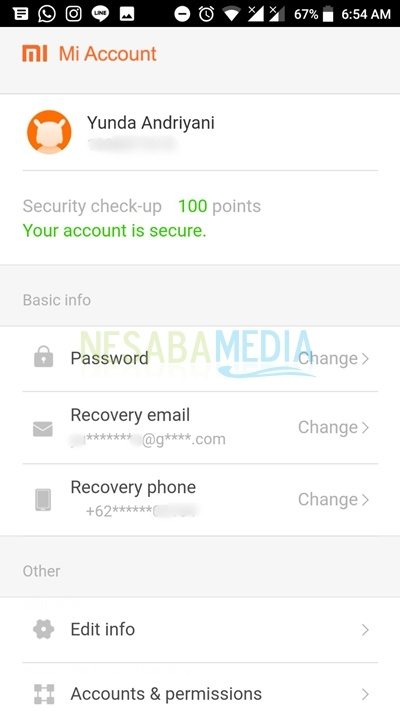 and your account is secure