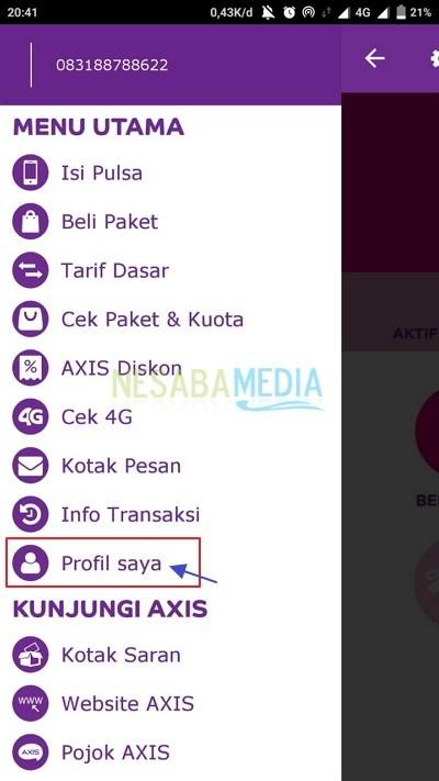 register AXIS via app