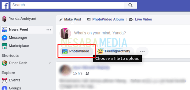 How to upload a video on Facebook lite