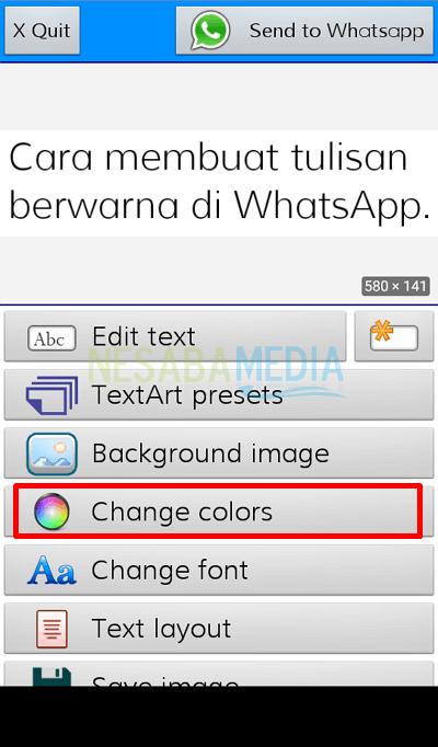 3 - choose change colors