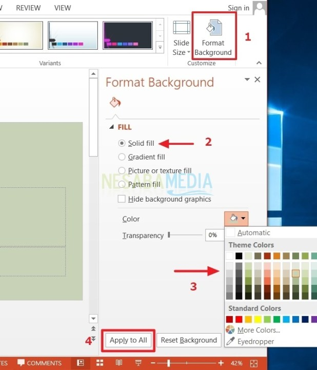 how to replace a different powerpoint background