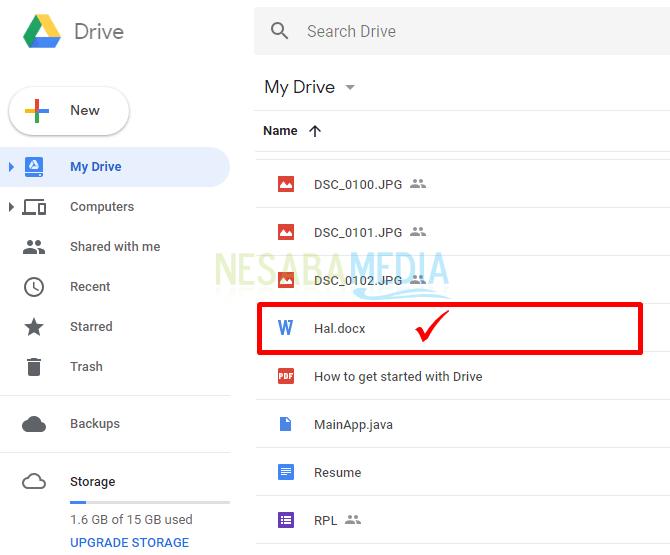 cara menggunakan google drive untuk upload file