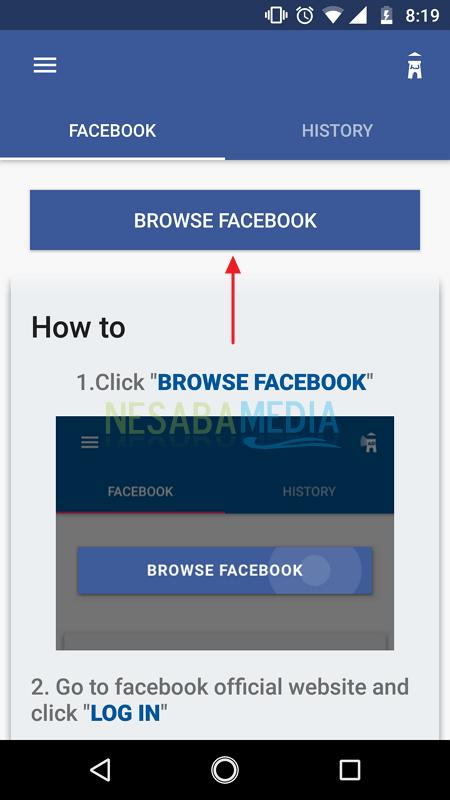 Download video facebook via app 1