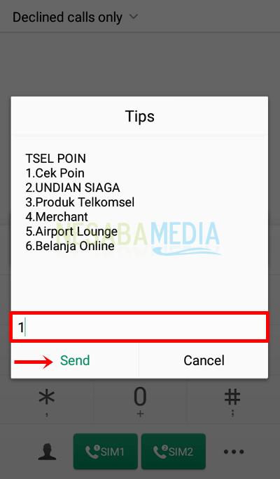Step 2 - select menu 1