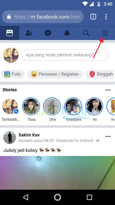 cara menghapus akun facebook sendiri lewat hp