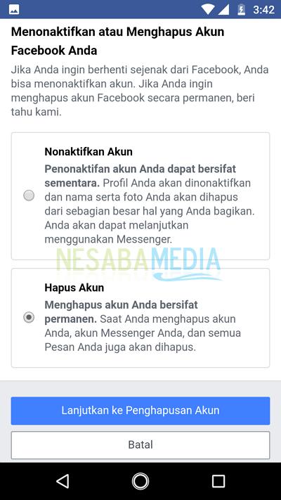 cara menonaktifkan facebook di facebook