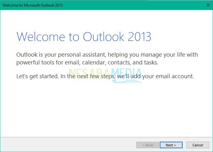 cara setting gmail di outlook 2010