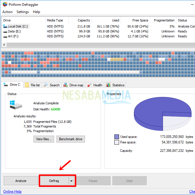 cara defrag hardisk laptop
