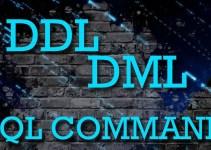 Pengertian DDL dan DML