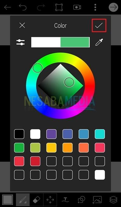 Atur warna pada icon