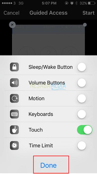cara mengunci aplikasi di iphone - beberapa pilihan yang terdapat pada fitur