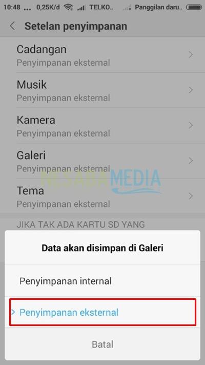 choose external storage