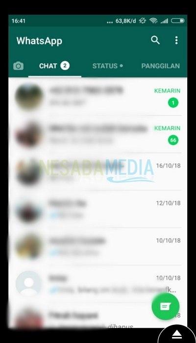Hasil tangkapan whatsapp korban