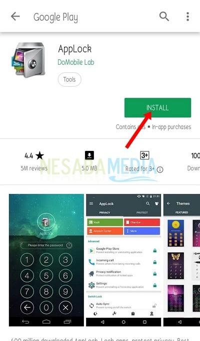 Silakan install aplikasi AppLock