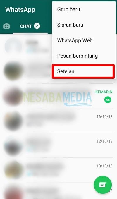 Buka menu Setelan