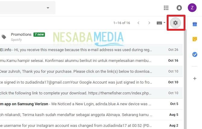 Cara Mengganti Tema Gmail