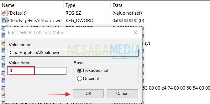 cara membersihkan page file setiap kali shut down di Windows