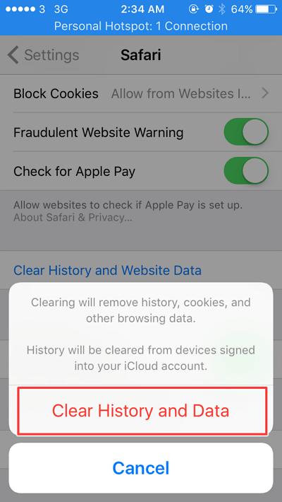 menghapus data safari - Cara Menghapus Cache di Iphone