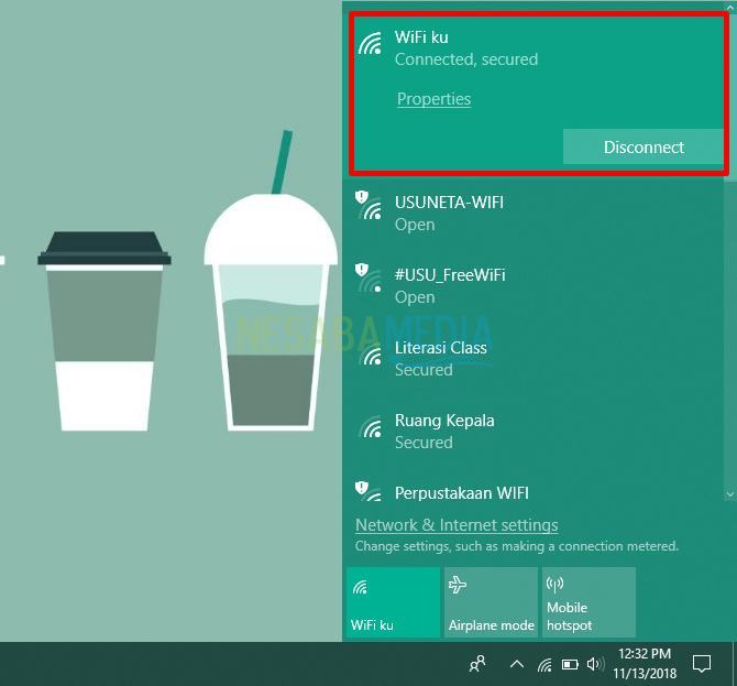 cara terhubung ke hidden WiFi secara manual