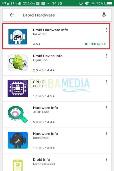 cara cek processor di Android