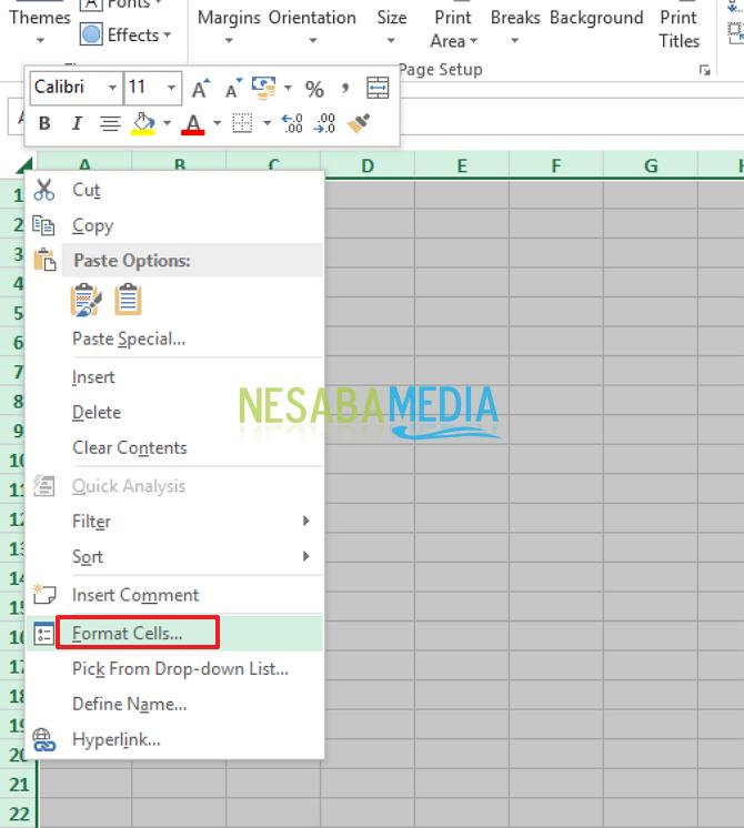 cara memprotek sel dan range di Ms. Excel