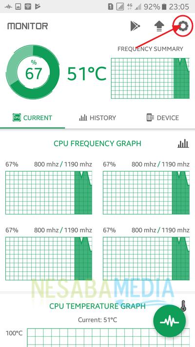 cara menampilkan suhu CPU di Android