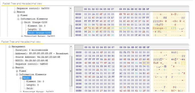 Publich SSID vs Hidden SSID