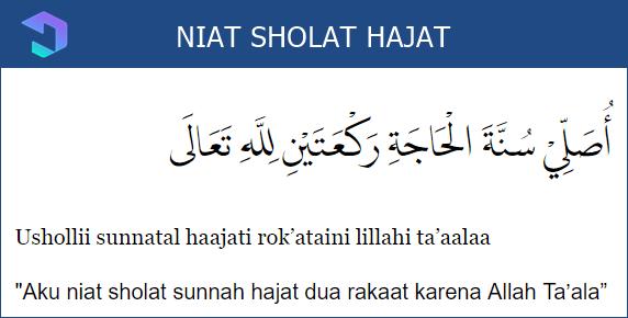 Lafadz Niat Sholat Hajat