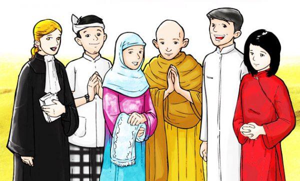 ✓ Terbaik Contoh Gambar Vihara Kartun