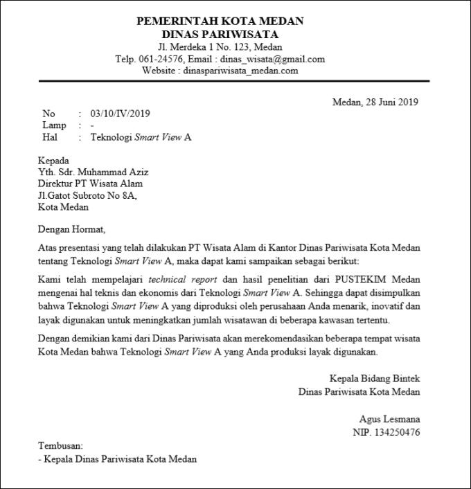 surat pemerintahan resmi