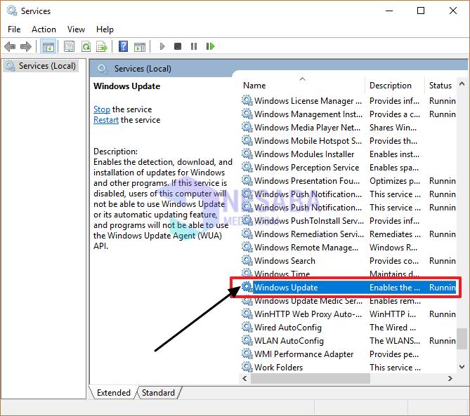 Mengatasi CPU Usage 100% Dengan Disable Windows Update