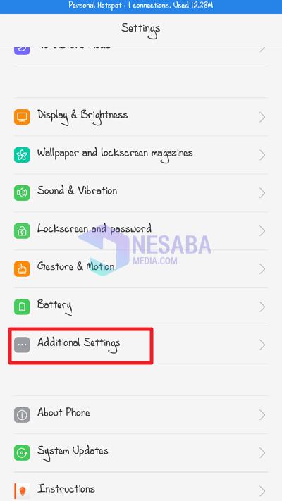 additional settings