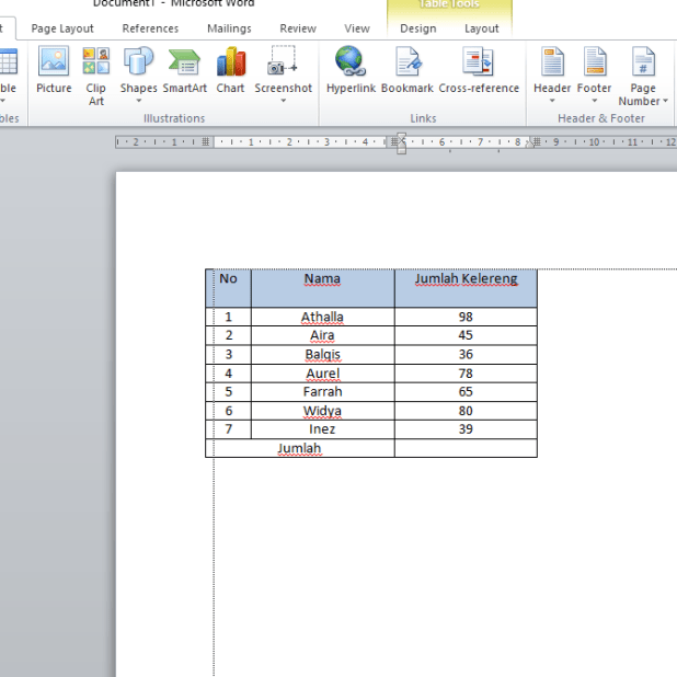 how to add in Microsoft Word