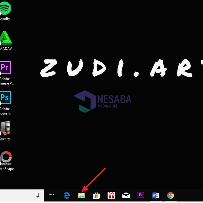 Cara Membuka Windows Explorer Lewat Taskbar