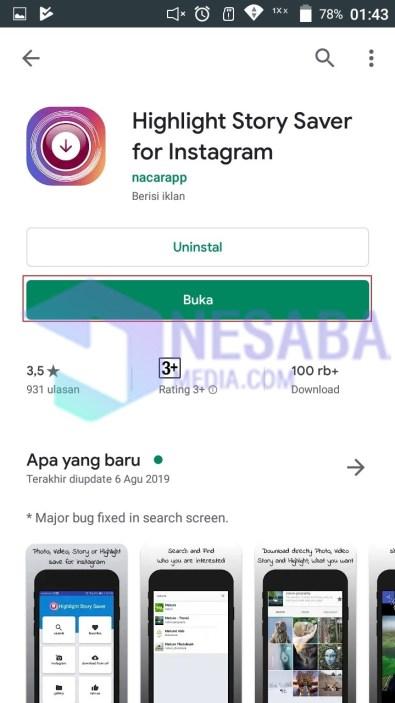Buka aplikasi highlights saver