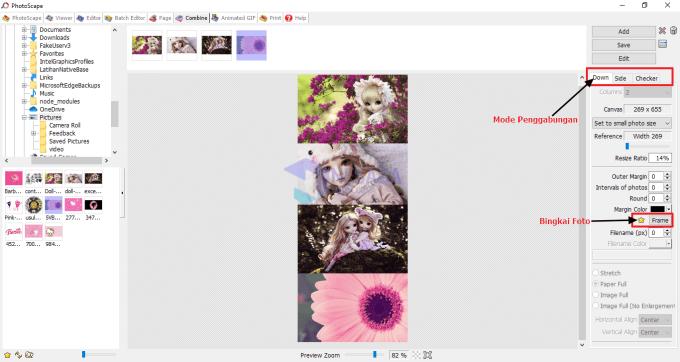 Cara Menggabungkan File JPG dengan Memilih Mode Foto