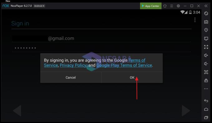 klik ok pada textbox