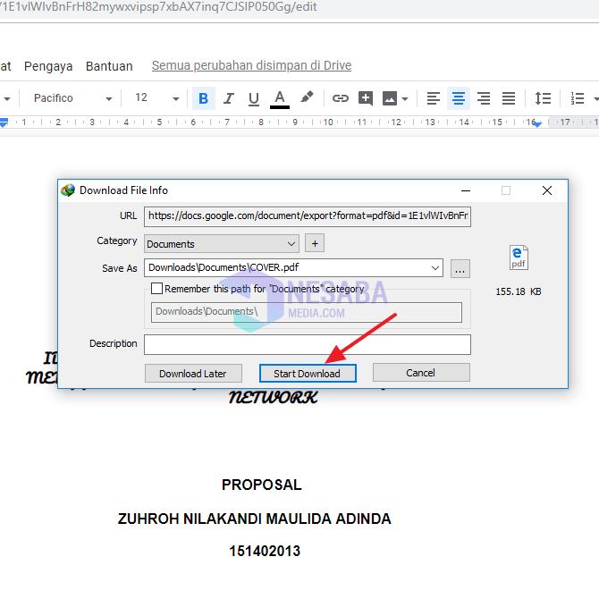 cara edit PDF di Adobe Reader dengan IDM