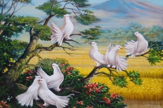 Contoh Seni Rupa 2 Dimensi Lukisan