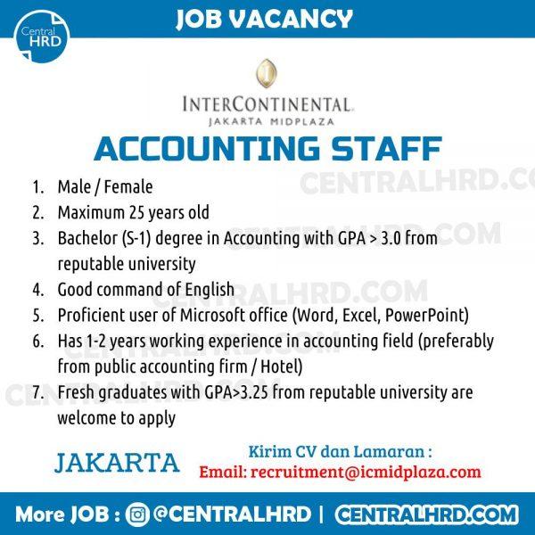 Contoh Job Vacancy untuk Staf Akuntansi