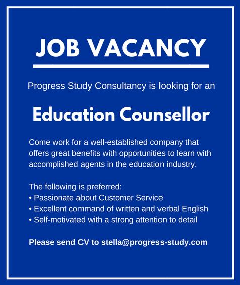 Contoh Job Vacancy untuk Penasihat Pendidikan