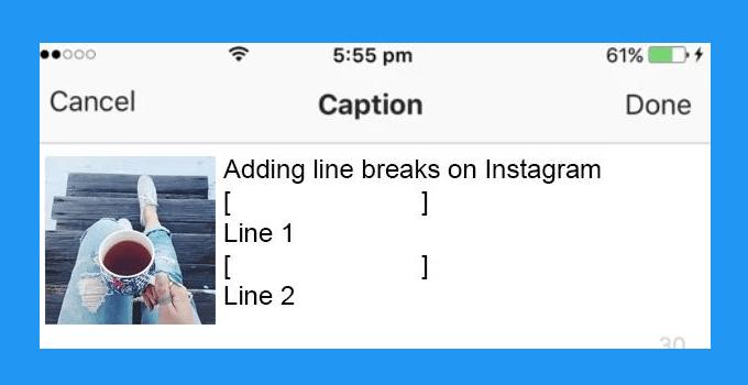 Cara Membuat Line Break di Instagram
